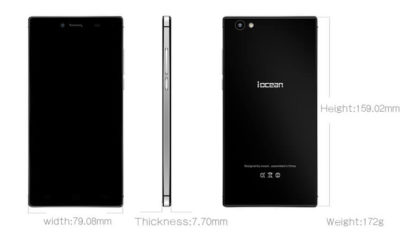 iOcean X8 specifications