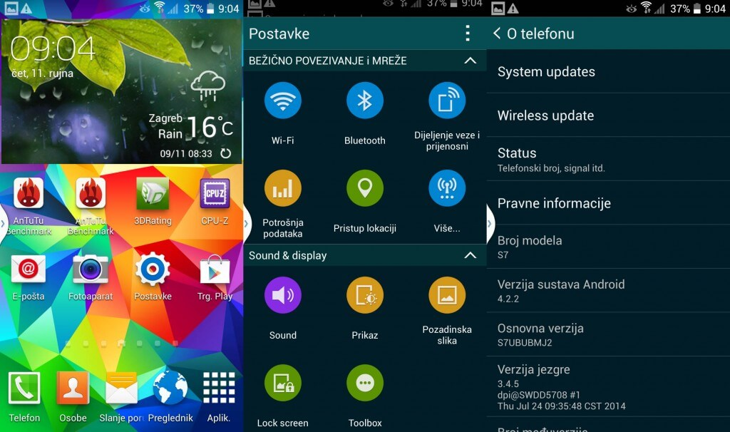 NO.1 S7 Android 4.2.2 os