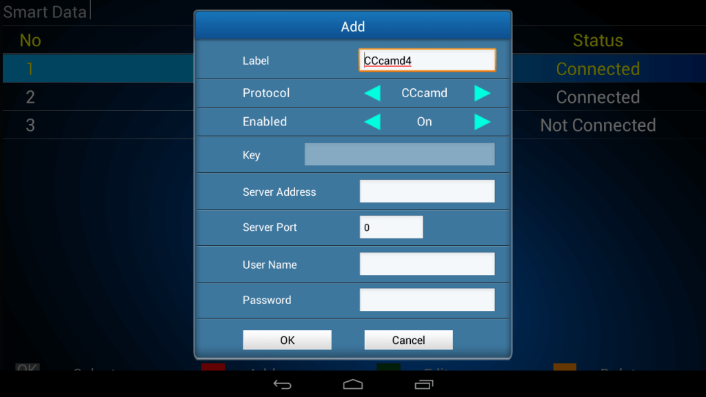 cardsharing settings lines