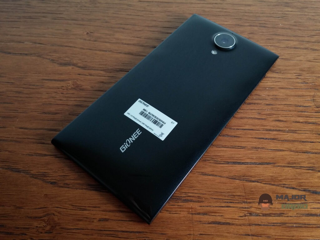 Gionee Elife E7 back side