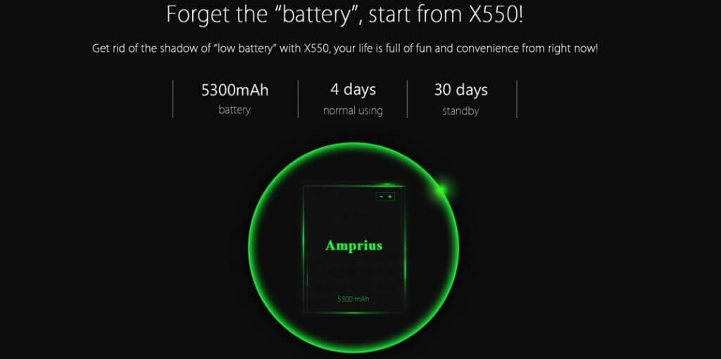 Bluboo X550 battery