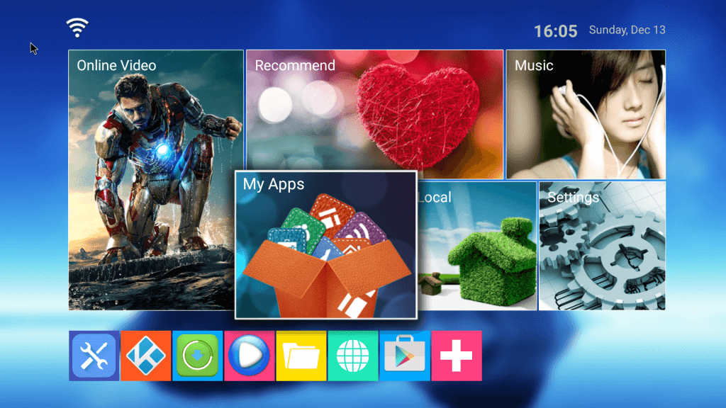 home screen for mini mx tv box
