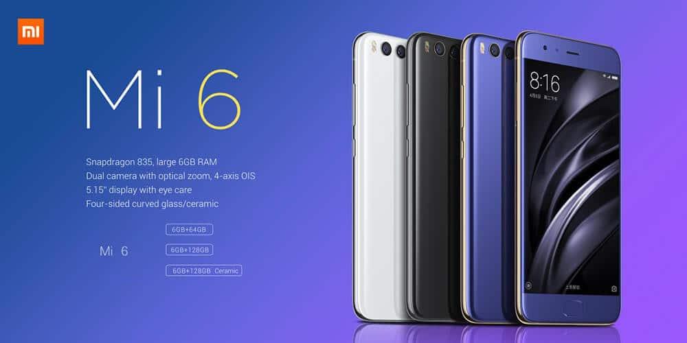 Xiaomi Mi 6 on sale