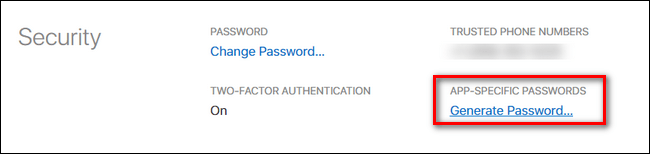 Create an App-Specific Password