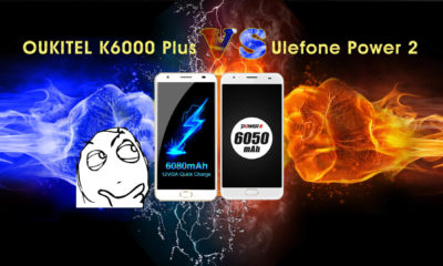 OUKITEL K6000 Plus fight with ulefone power 2