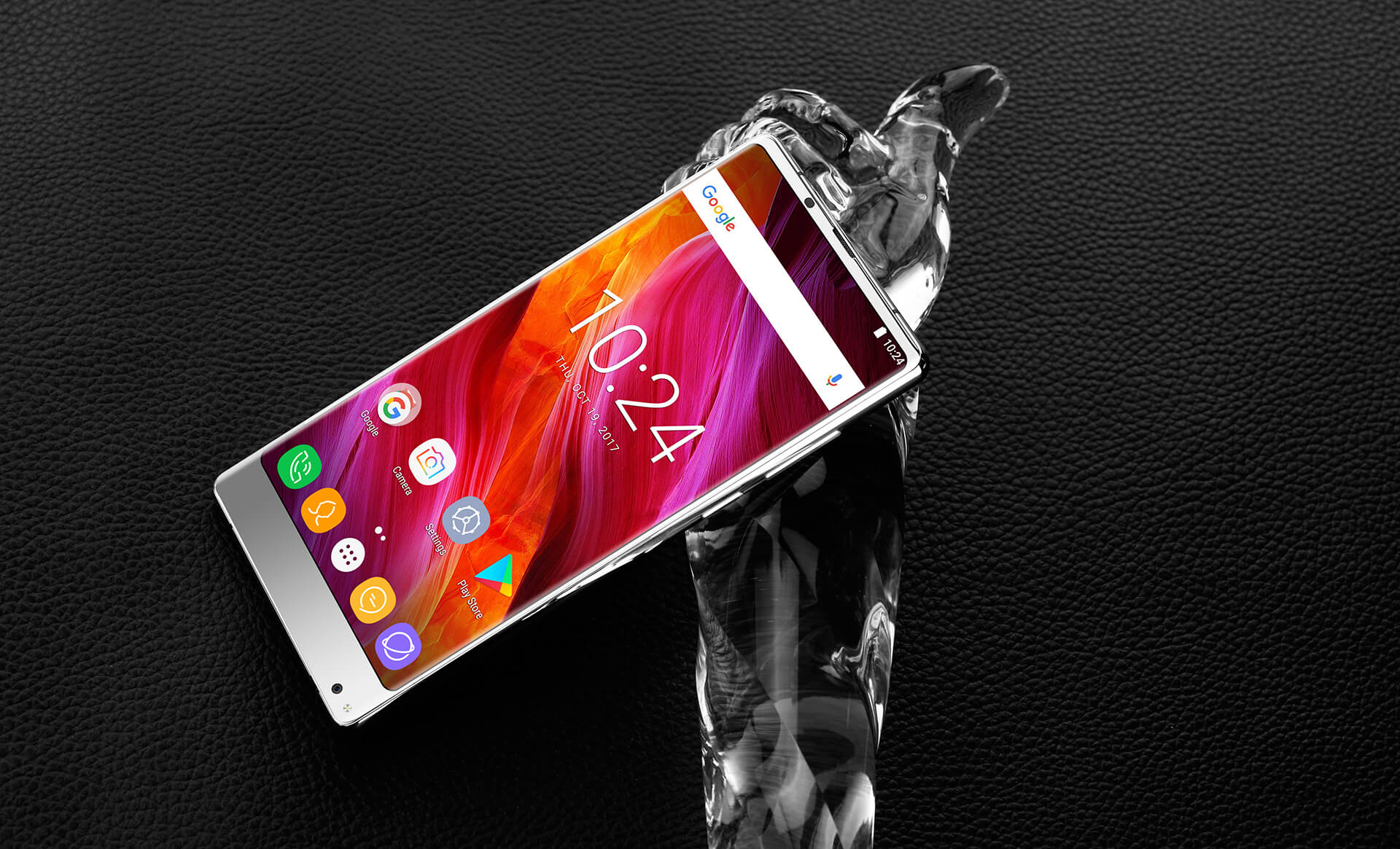 Article photo: Oukitel MIX 2 is coming in a new silver version, awesome!