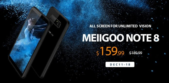 Meiigoo Note 8 sale on the Gearbest