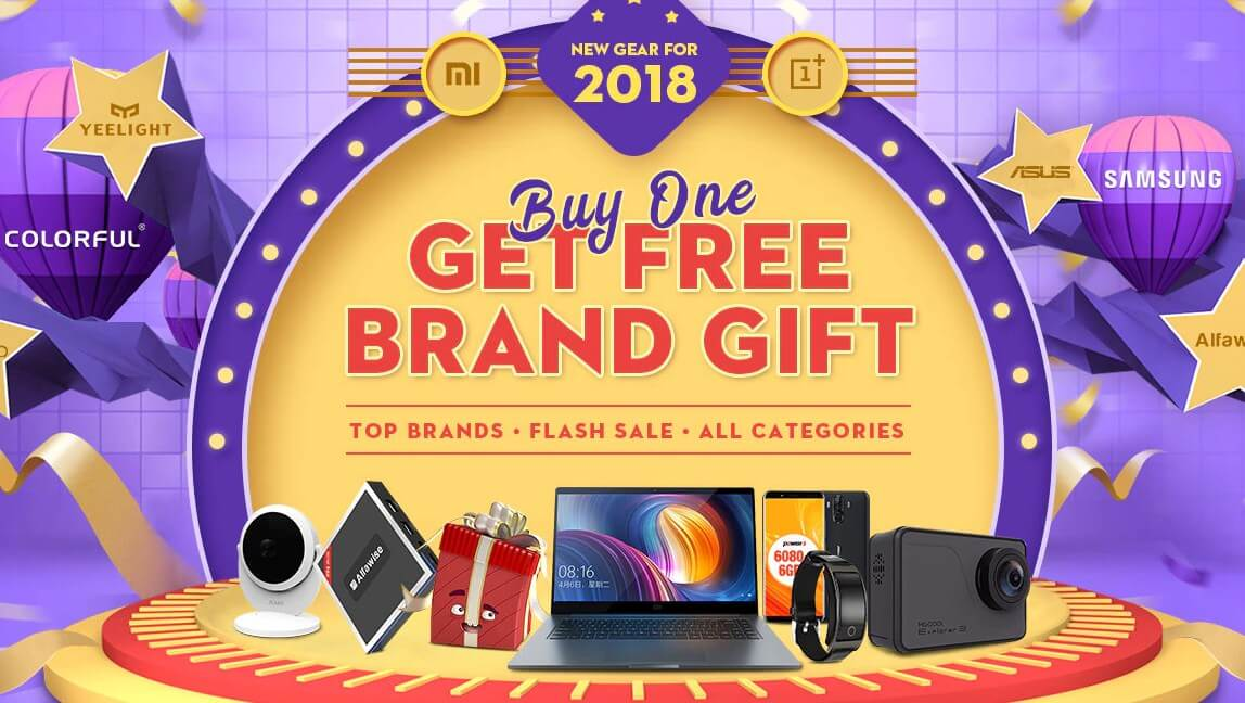 Gearbest BUY ONE GET FREE BRAND GIFT promotion