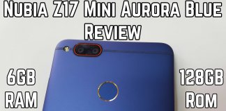 Nubia Z17 Mini Aurora Blue Review