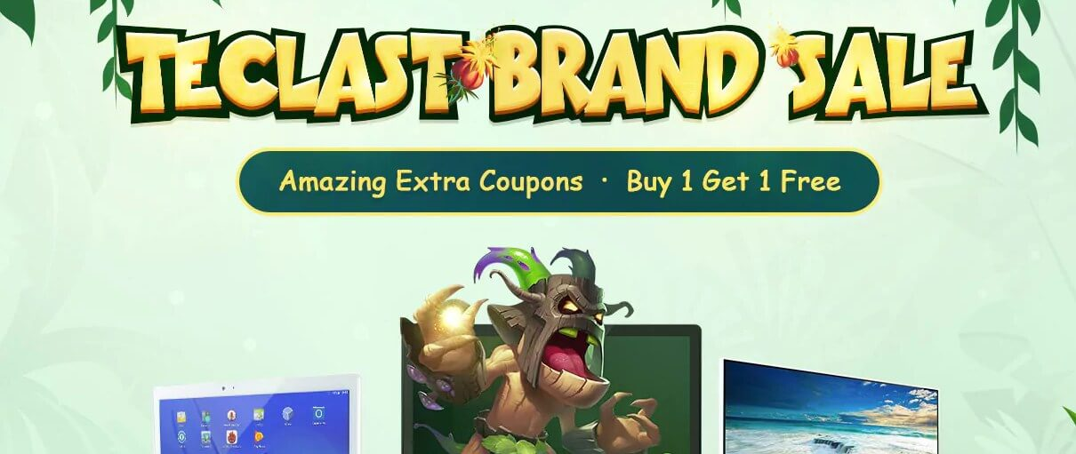 Gearbest Teclast Brand Sale- Amazing coupon- Buy 1 Get 1 Free promotion
