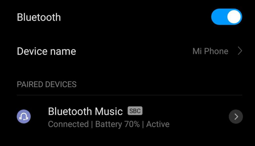Bluetooth battery percentage