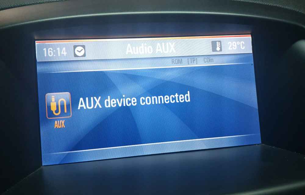 AUX device connected