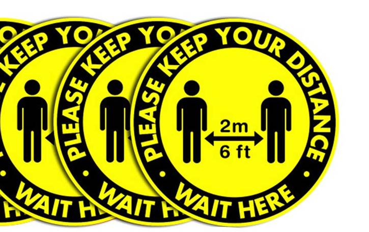 6 ft distance sticker for the floor