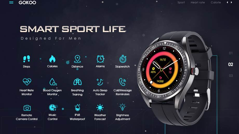 GOKOO Smart Watch Wristband