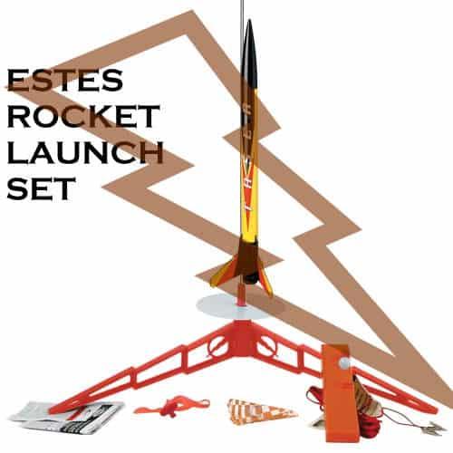 estes rocket model - launch set