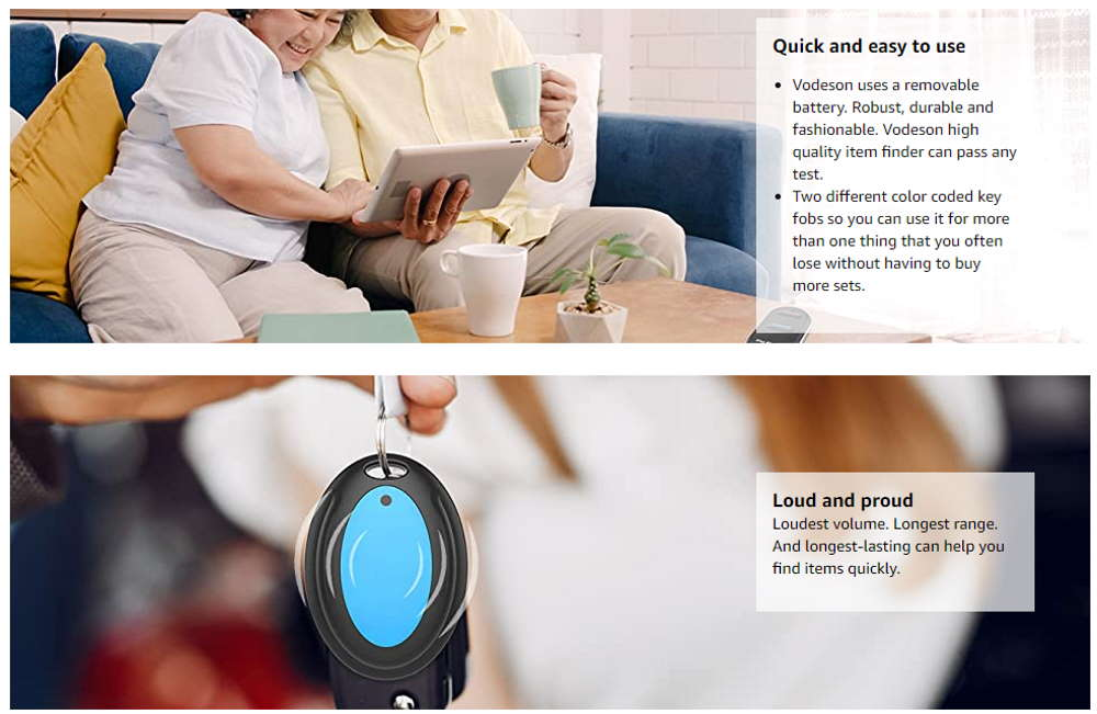 VODESON Key Finder for elderly people