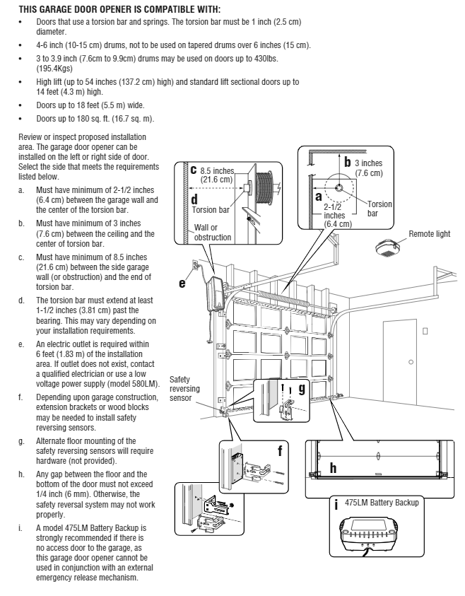 LiftMaster install instructions
